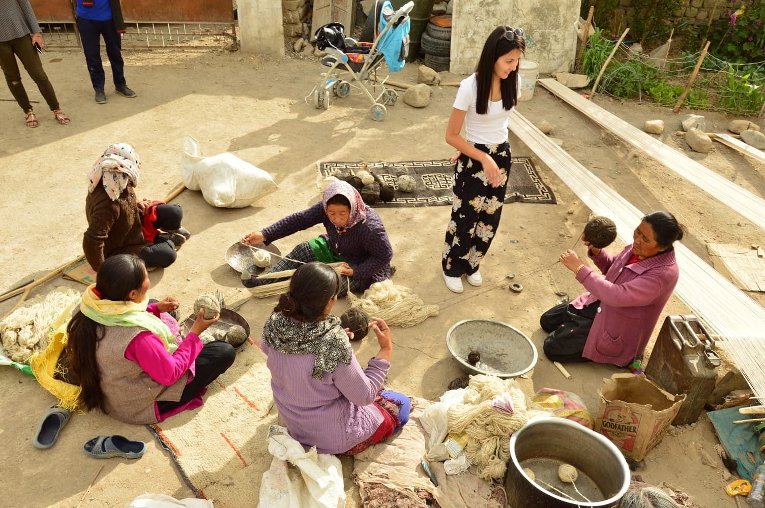Lachic overseeing local artisans at work. (Source: Rigzin Wangmo Lachic Goji)