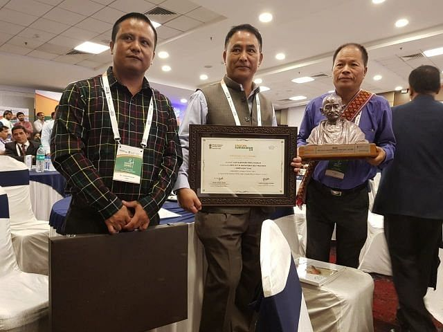 Biate received award for Best City of Innovation & Best Practices under the Swachh Survekshan 2018 at Indore. (Source: Twitter/All India Radio)