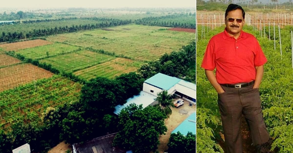 Man Turns 200 Acre Into Organic Farm, Saves 2 Cr Litres of Water/Year!
