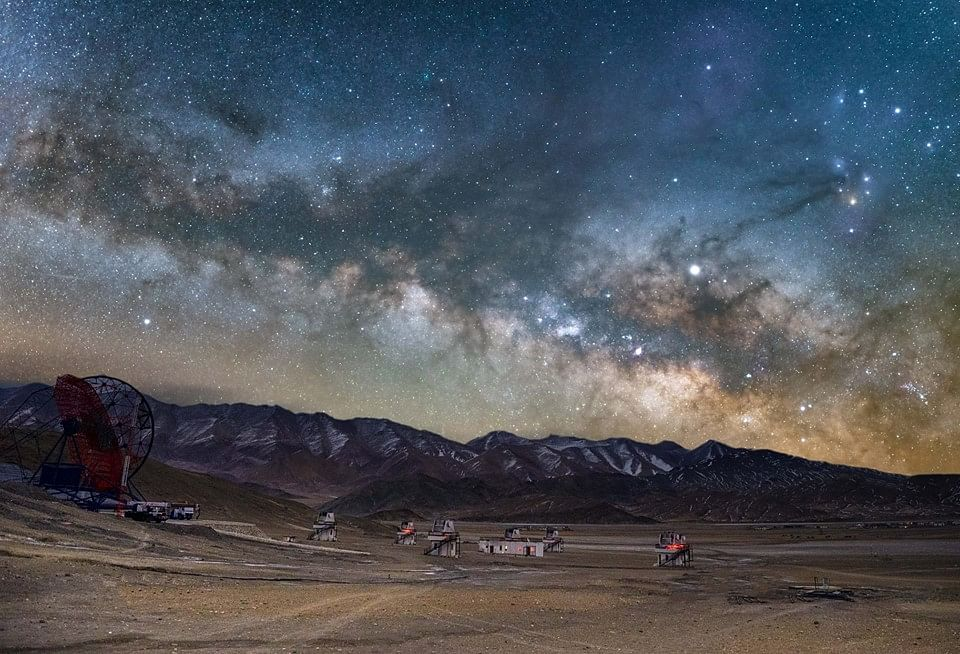 """""""Hanle Dark Sky Reserve will be a safe, public places where people can gather to enjoy the night sky. It will offer a good place to stargaze and will hold events to bring celestial wonders to the young and old while having all the comfort of homestays,"""" says Dorjey Angchuk. (Source: Facebook/Dorjey Angchuk)"""