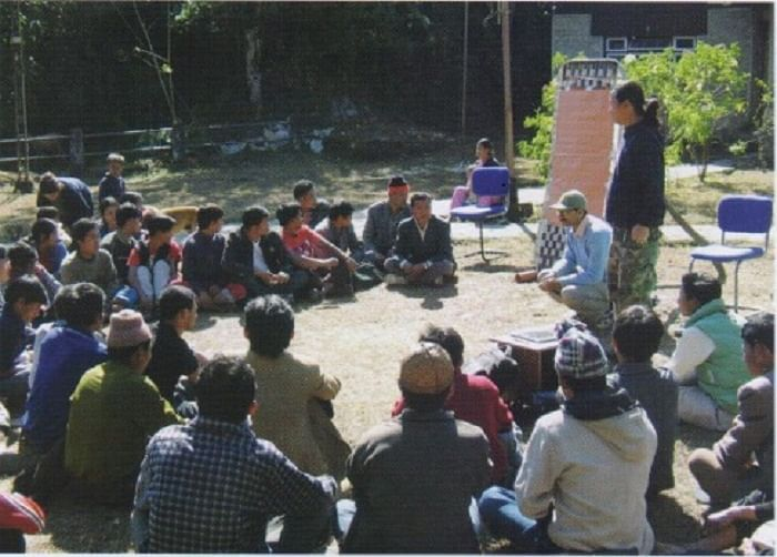 Developing a plan with residents of the buffer villages of Khangchendzonga National Park.