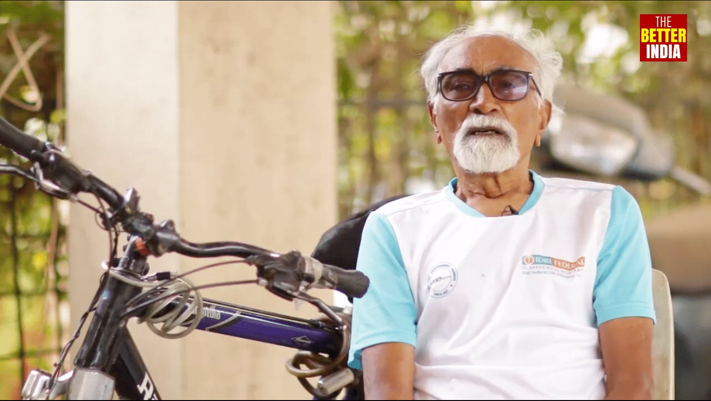 Defying Odds & Epilepsy, This Amazing 87-YO Man Has Cycled 4 Lakh Kms!