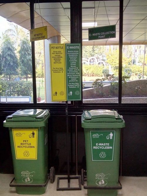 A PET Bottle and E-waste disposal centre
