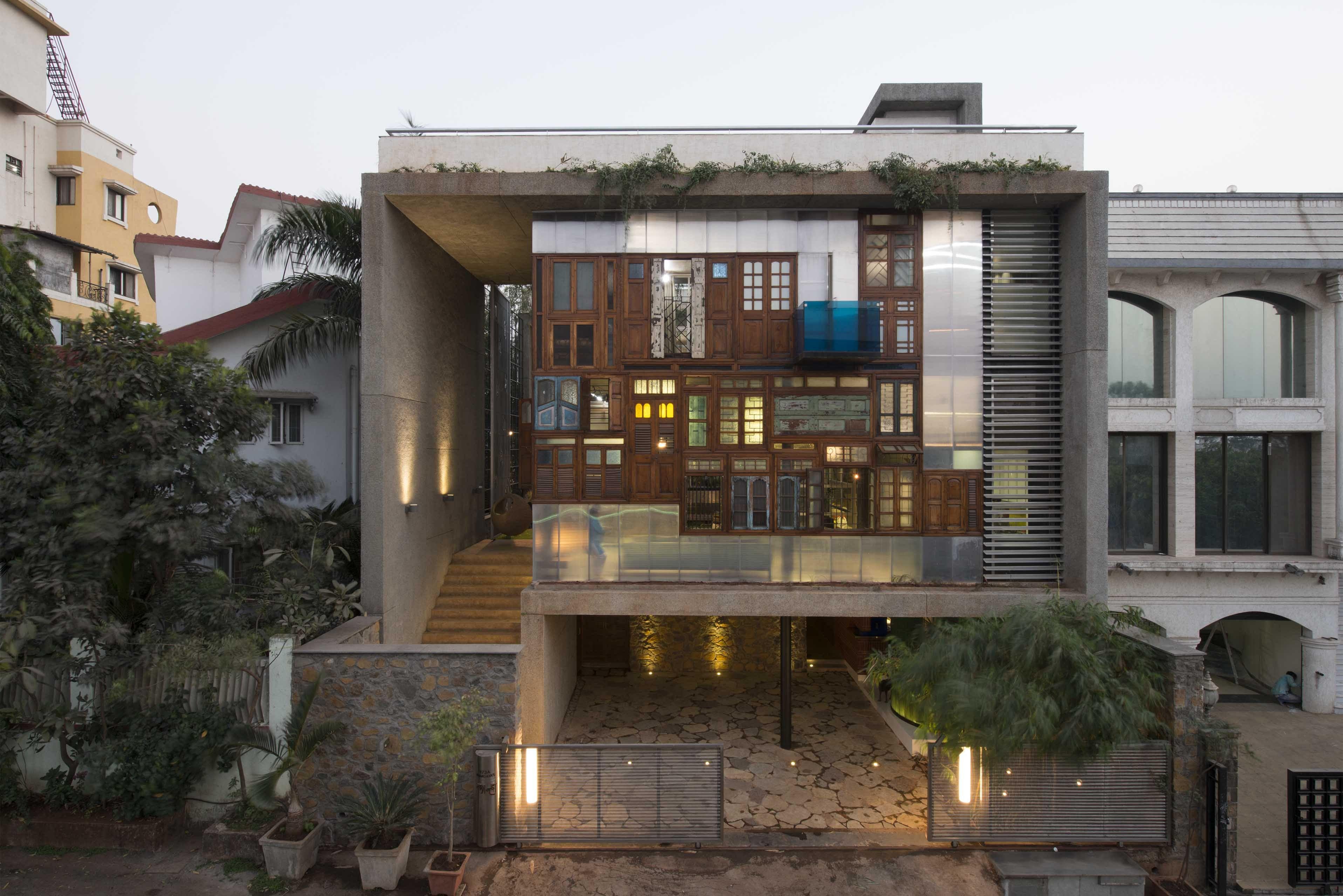 Made From Recycled Waste, Award-Winning Navi Mumbai Home