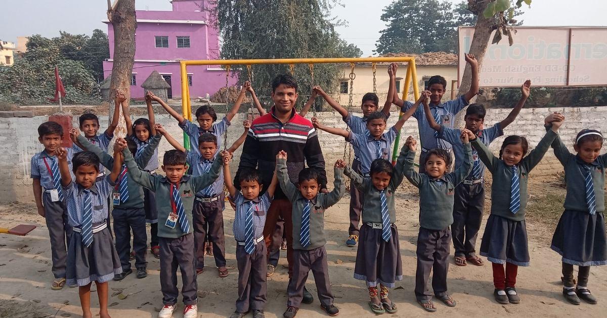 25-YO IAF Man Transforms Bihar Home Into School, Provides Education To 400 Kids!