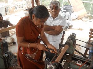 Training at the Karigarshala (Source: Hunnarshala Foundation)