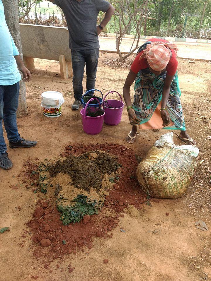 Making Bokashi Balls (Source: MAPSAS)
