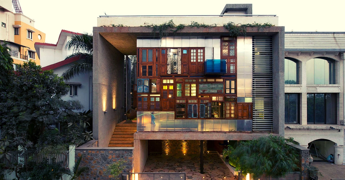 Made From Recycled Waste, This Award-Winning Navi Mumbai Home is Stunning!