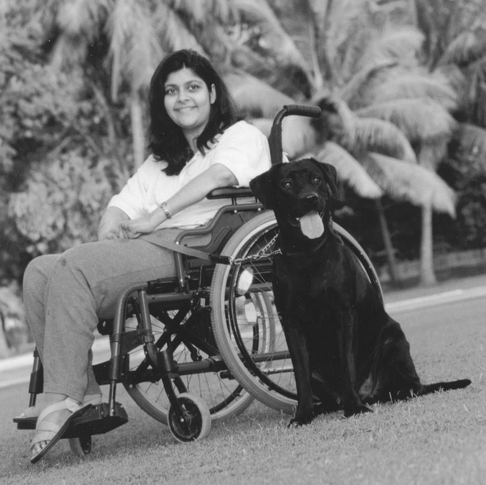 Sanam Karunakar with Magic. (Source: Facebook/Shirin Merchant - canine behaviourist and trainer)