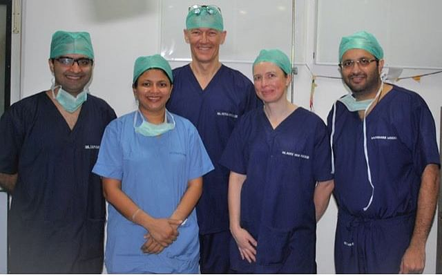 "The team who works on ""Spreading smiles"". Image courtesy: Dr Pushkar Waknis (Far Right)"