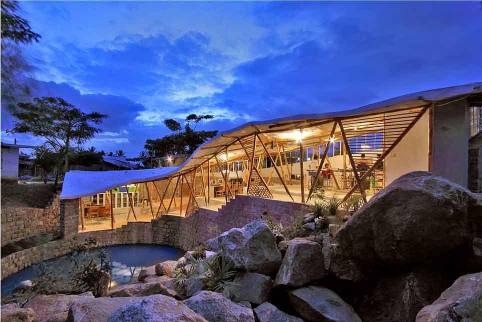 Bamboo Symphony, the Manasaram Architects office in Bengaluru. (Source: Manasaram Architects)