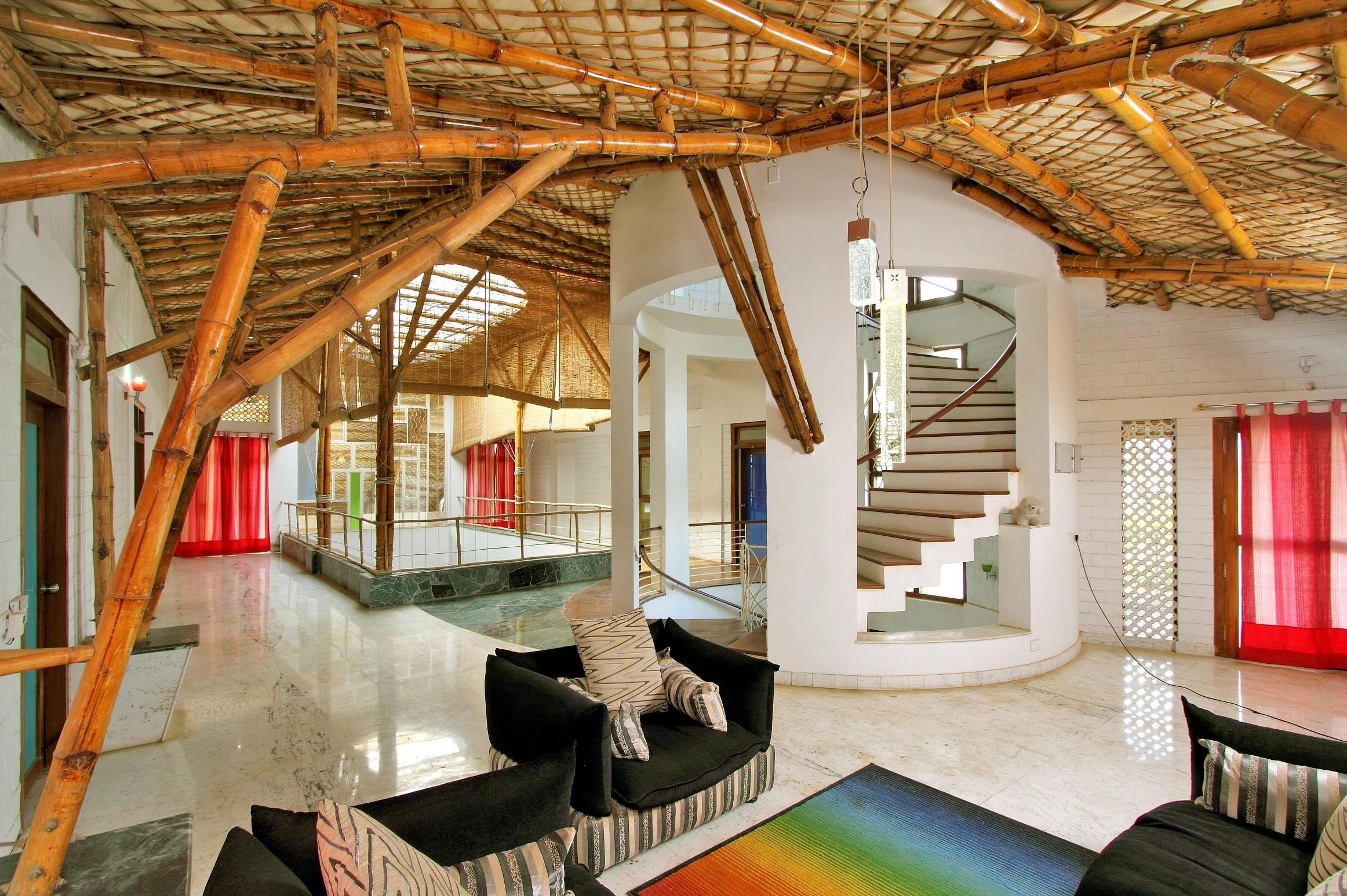 Neelam Manjunath's Home of Five Seasons has extensively used bamboo.