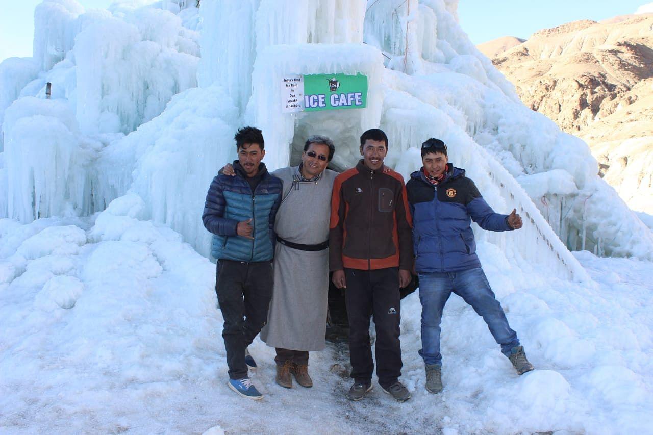 From Left to Right: Sonam Chosdup, Sonam Wangchuk, Jigmet Tundeup, and Nawang Phuntsog. (Source: Sonam Chosdup)