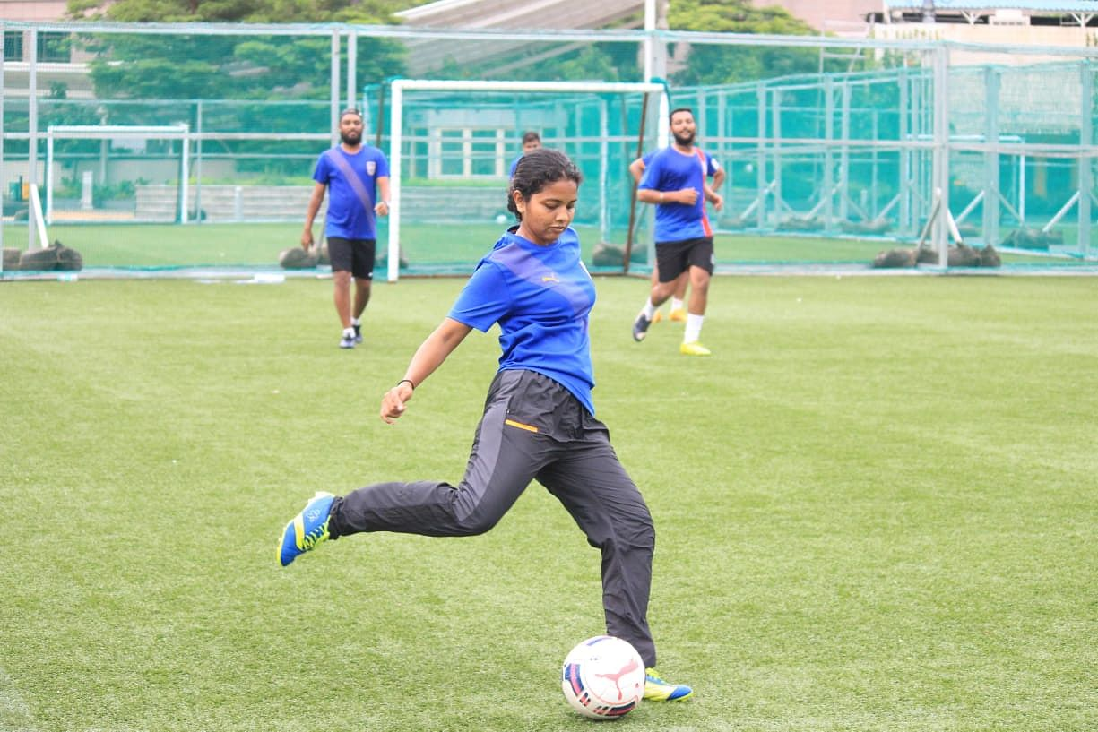 Tanaz Mohammed in action.