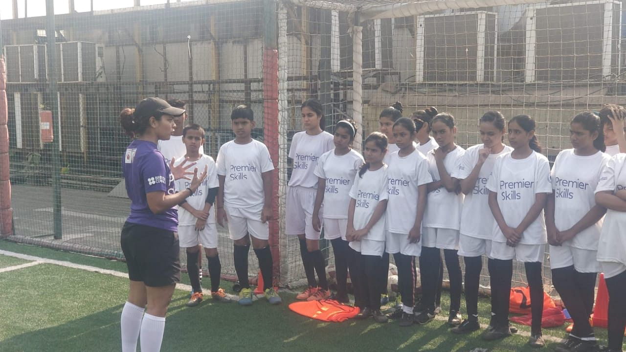 Tanaz, a Premier Skills Level One Coach Educator inspiring other girls to take up the sport.