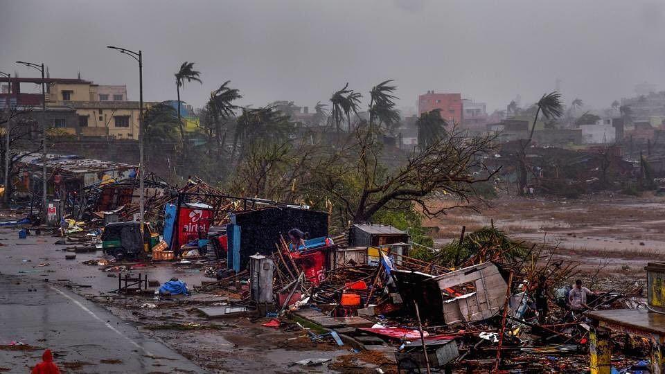 Devastation left behind by Cyclone Fani. (Source: Twitter/Amanpreet Singh)