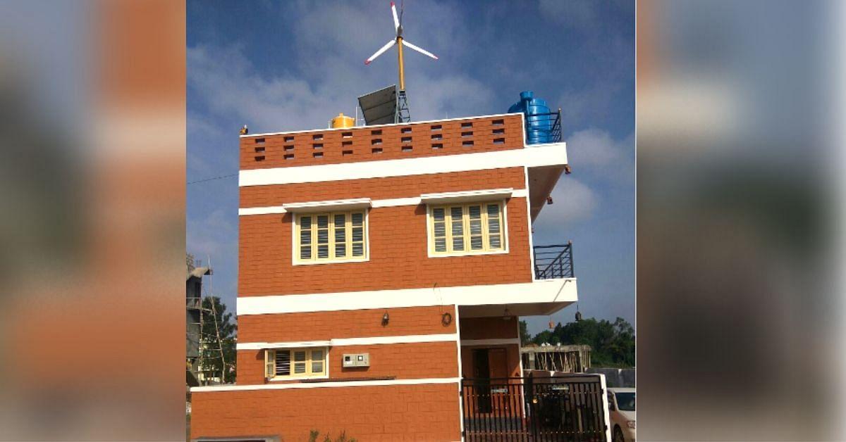 Sun-Dried Blocks, Handmade Tiles & Windmill: B'Luru Engineer Builds Green Home in 6 Months!