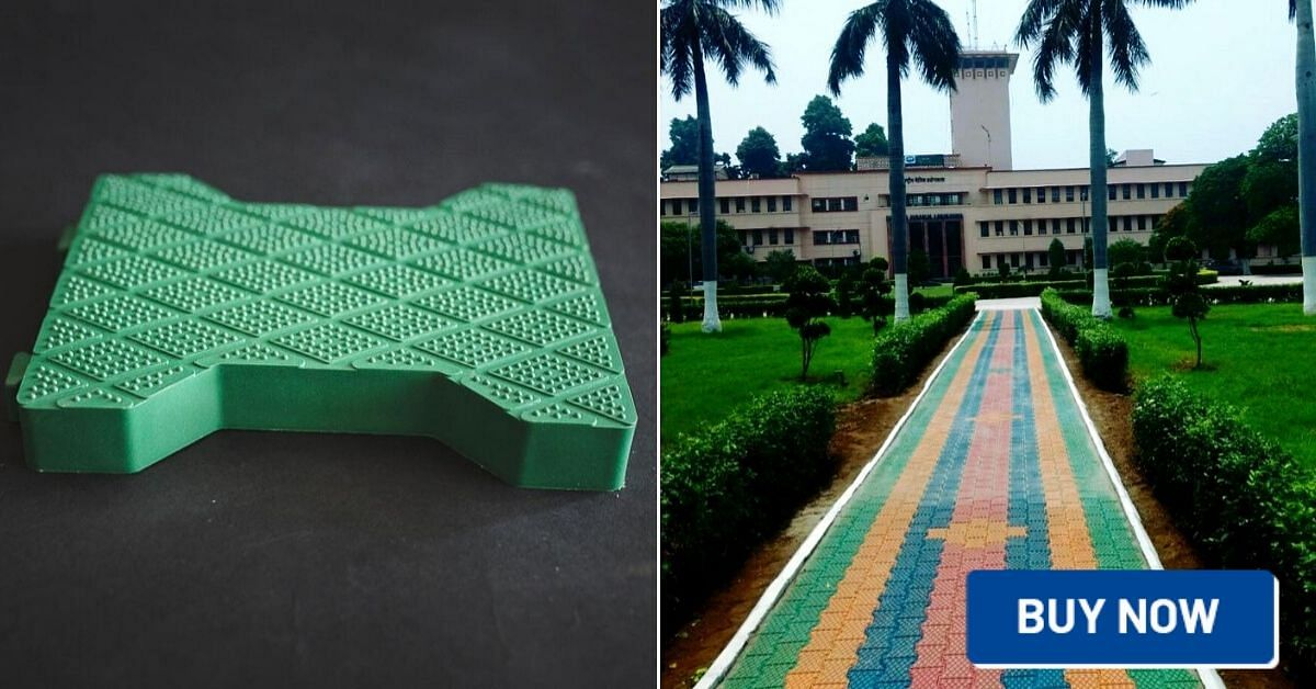 Noida recycled plastic tiles