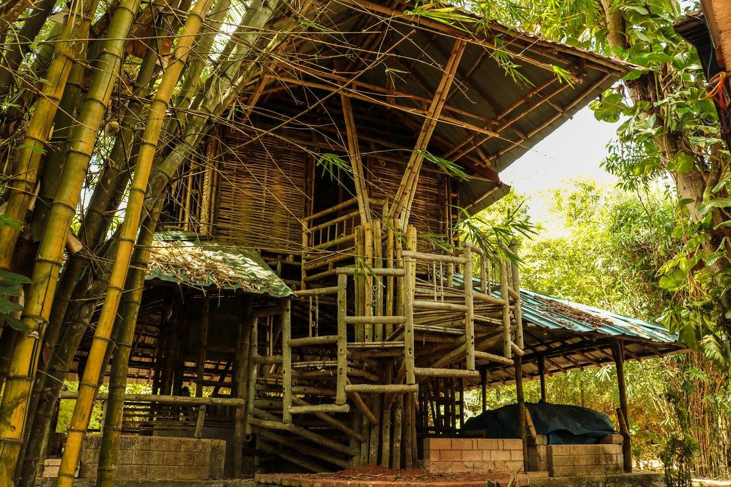 Low-cost bamboo structure. (Source: Habitat Technology Group)