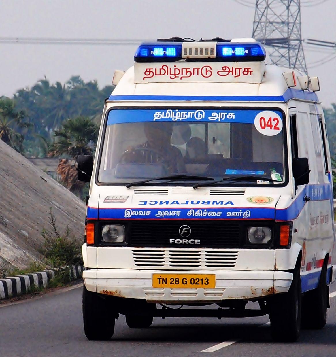 The 108 Ambulance System (Source: Wikimedia Commons)