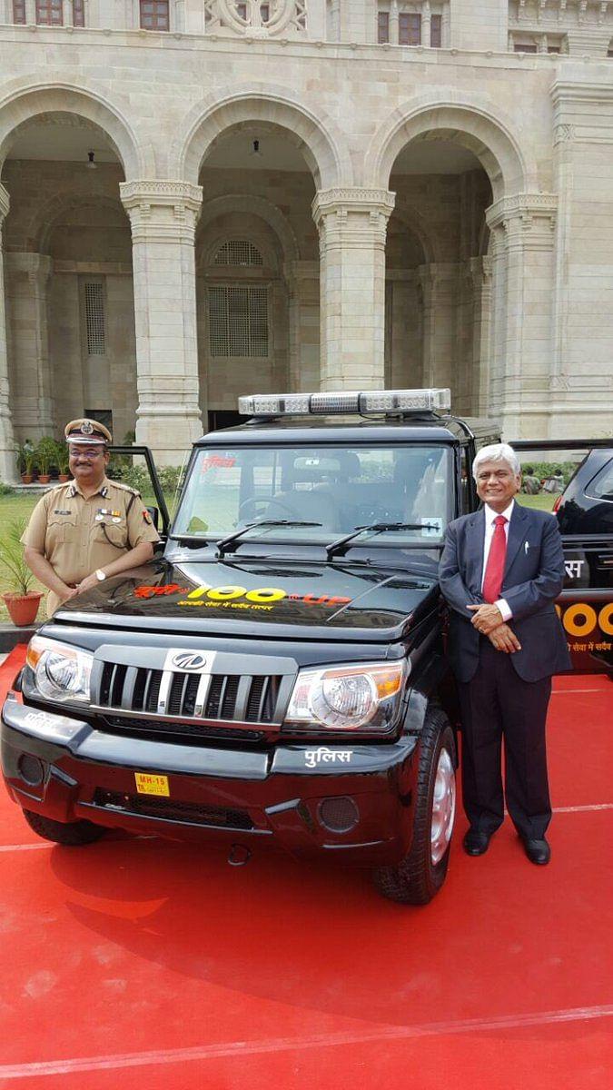 The Mahindra Bolero for UP100 services in rural Uttar Pradesh. (Source: Facebook/UP100)