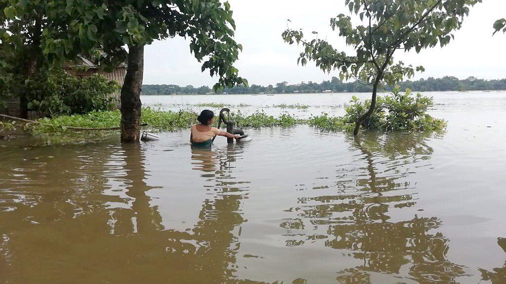 Assam floods. (Source: Twitter/Amitabh Behar)