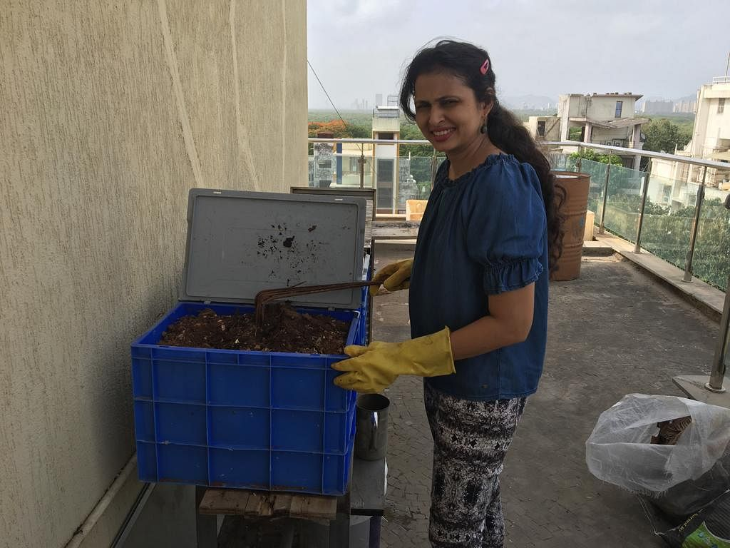 Dr. Reema doing vermiculture.