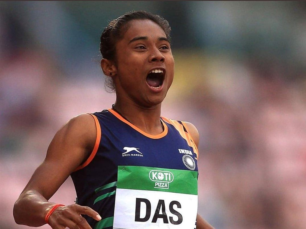 Hima Das, the pride of India. (Source: Twitter/Govind Singh Rajput)
