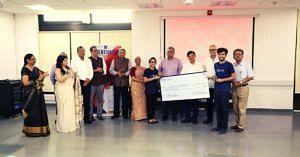Winners: Prabal Vashisht and Parul Sangwan of IIT Palakkad. (Source: Facebook/IIT Gandhinagar)