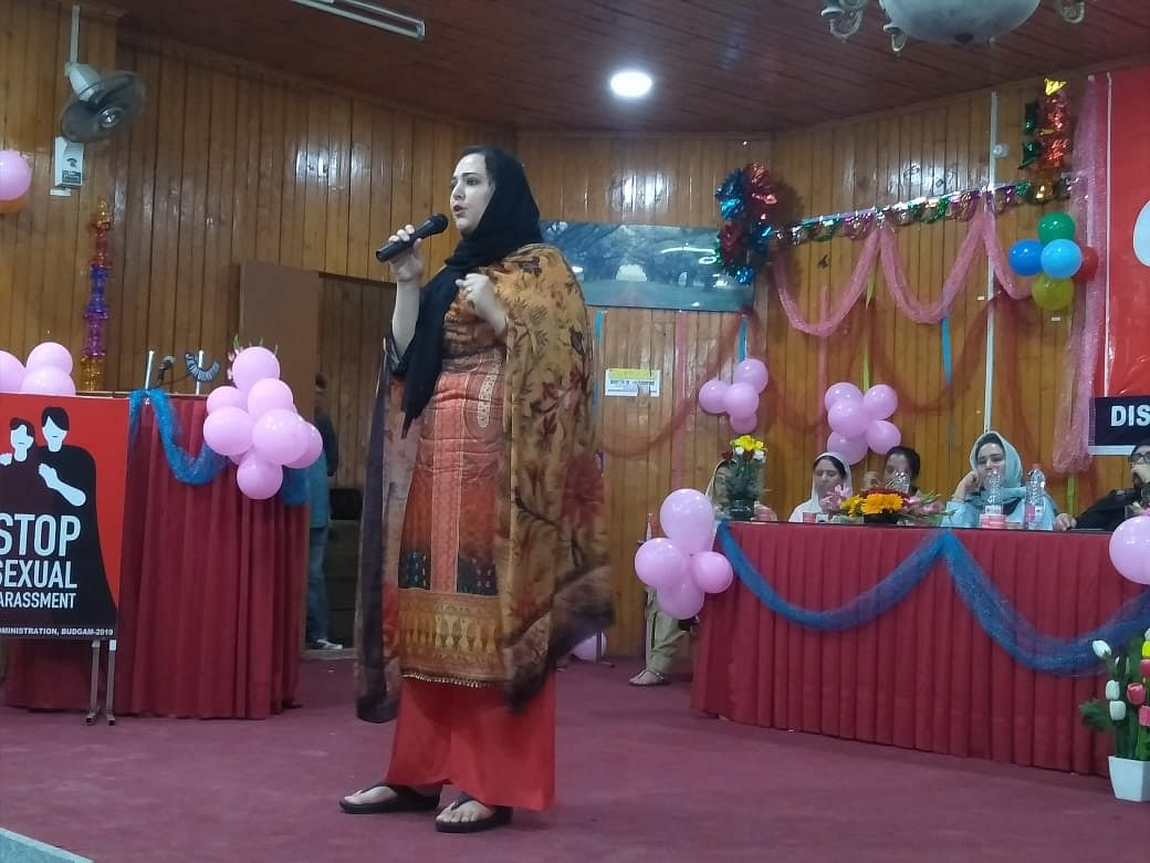 DC Syed Sehrish Asgar addressing a conference.