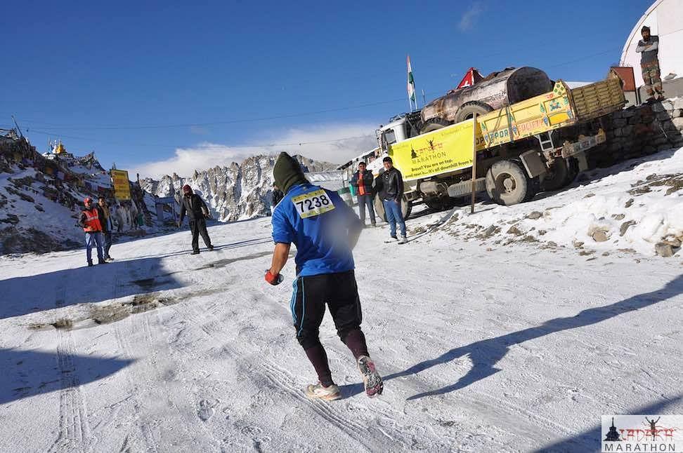 Khardung La Challenge (5370m): Testing the limits of human endurance. (Source: Ladakh Marathon)