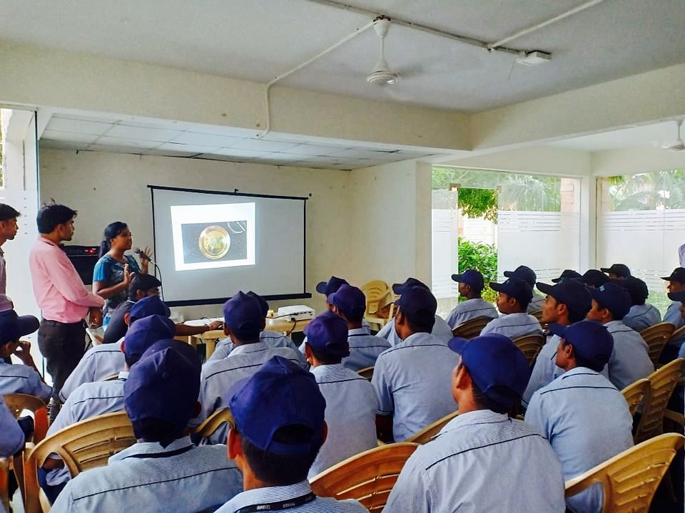 Training of housekeeping staff at Orchid Petals. (Source: Saahas)
