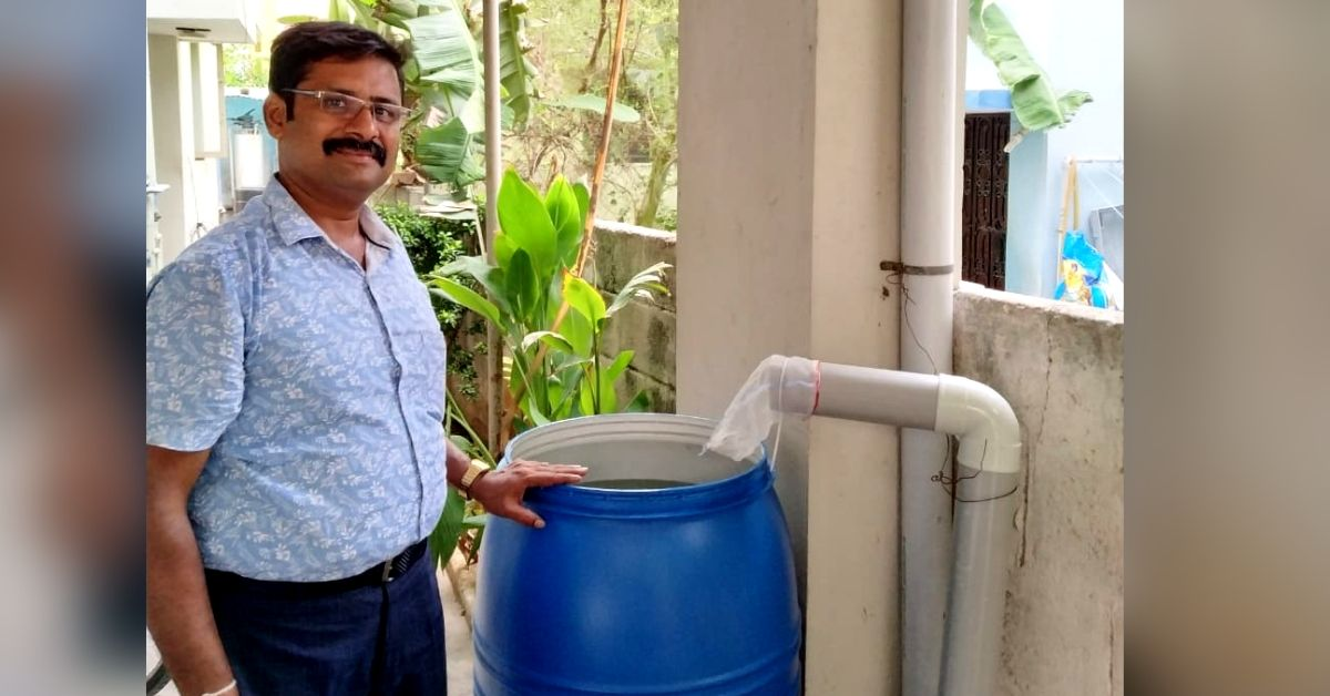 Chennai Man Develops Rs 250 Water Harvesting System That Collects 225 Litres in 10 Mins!