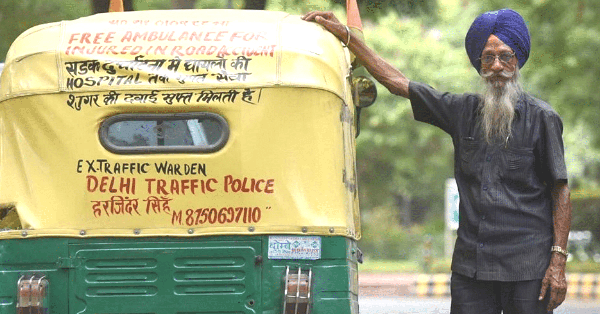 76-YO Runs Delhi's Only Free 'Auto Ambulance', Has Saved Hundreds Since 1978!