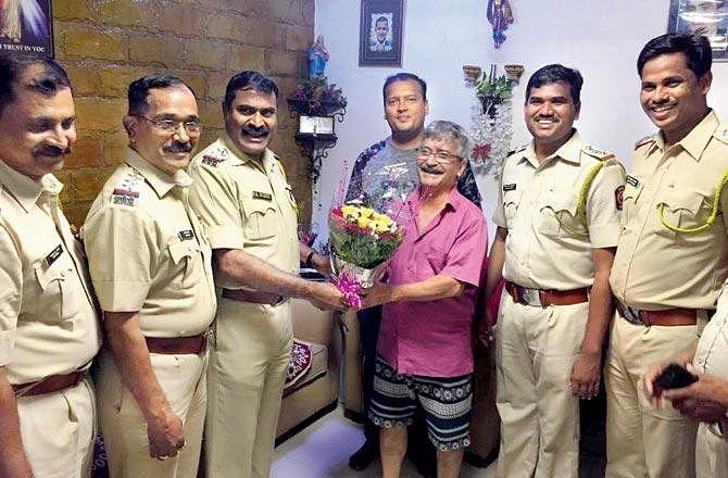 The Mumbai Police wishing Valerian Santos on his 60th birthday. (Source: Twitter/Mumbai Police)