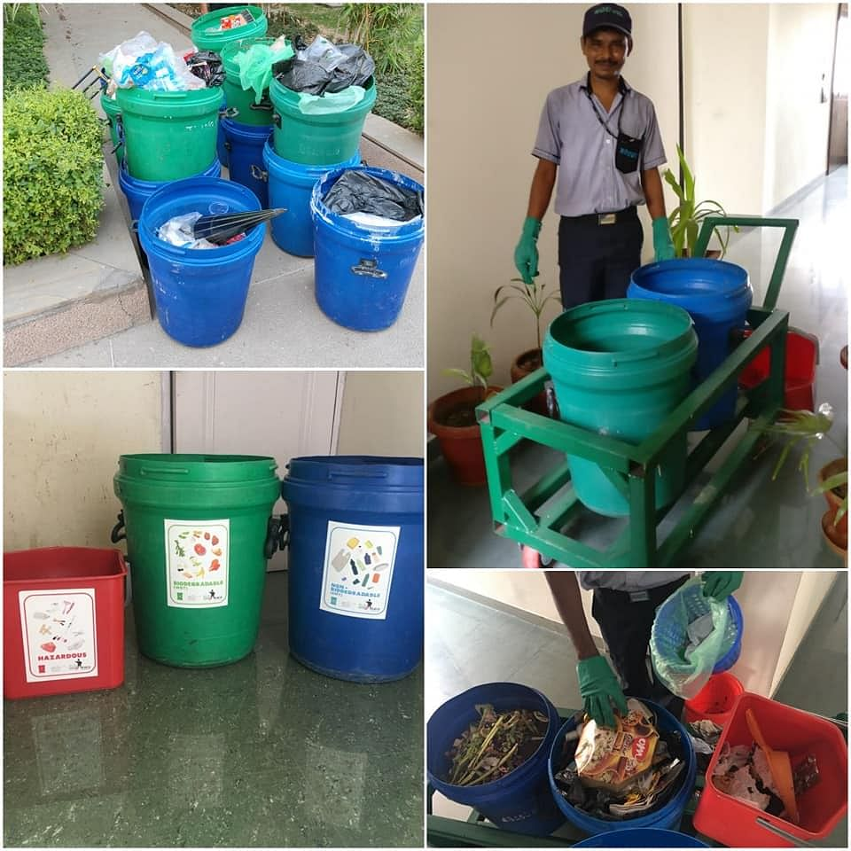 Waste segregation at source. (Source: Saahas)