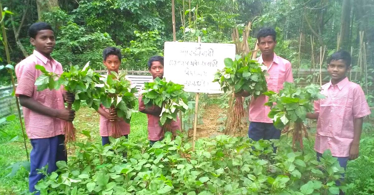 50K+ Assam Kids Grow Organic Veggies In School Backyards, Earn Neat Profits!