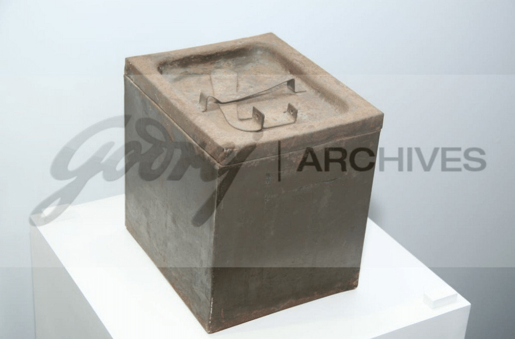 The Godrej Ballot box which secured the citizen's vote in India's first general elections in 1952. (Source: Godrej Archives)