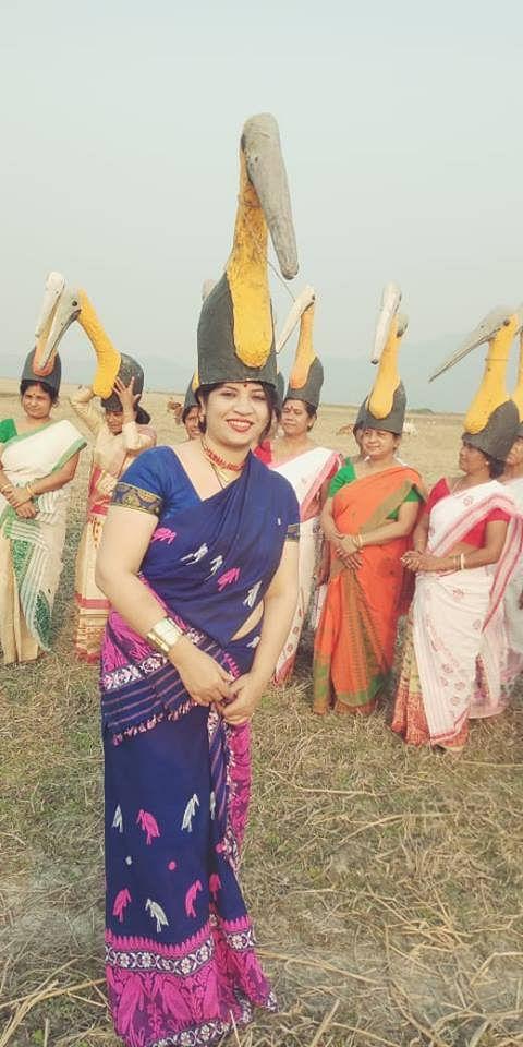 Purnima Barman with her Hargila Army. (Source: Facebook)