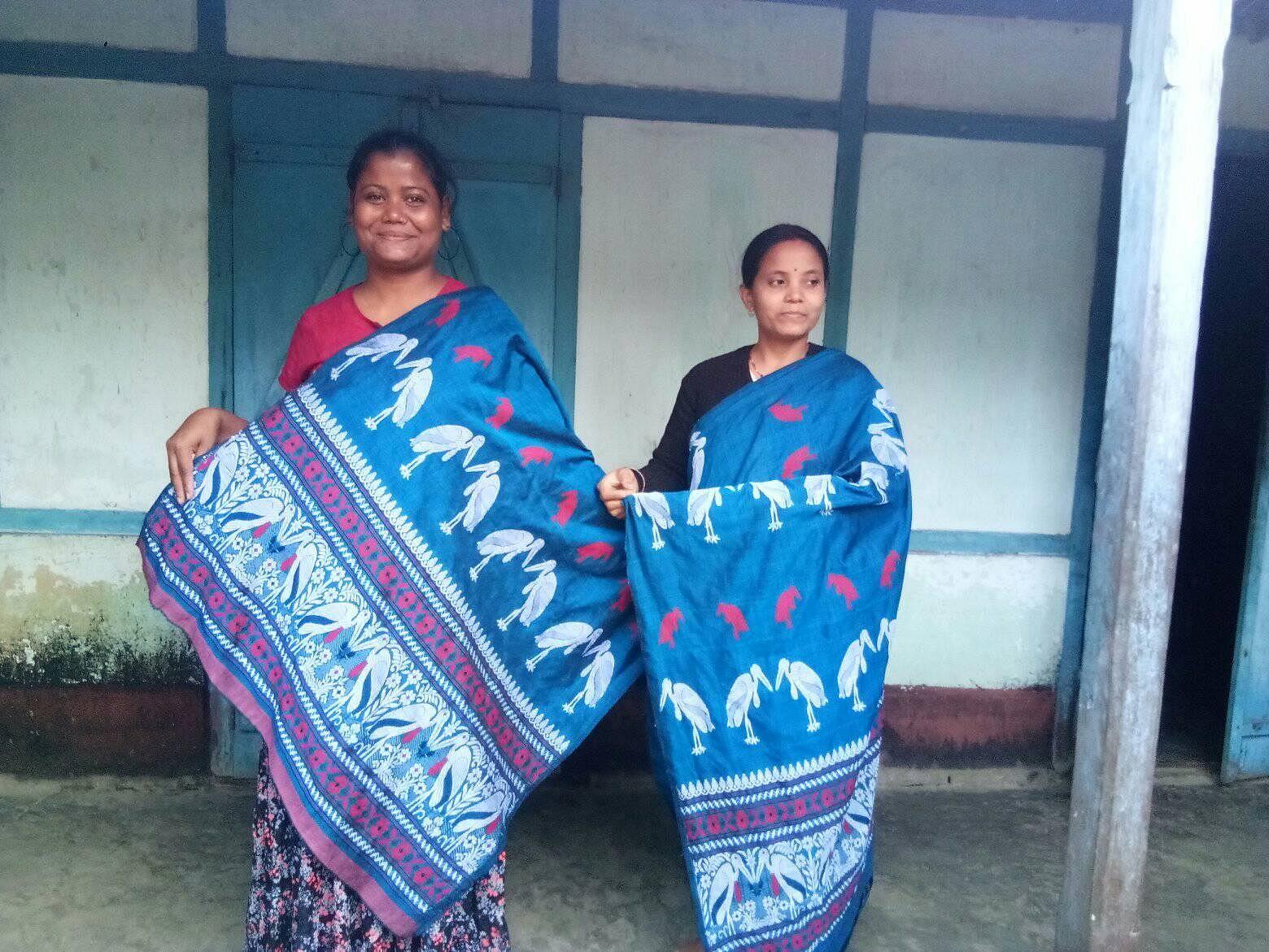 Handloom-made items featuring the Hargila motif. (Source: Facebook)
