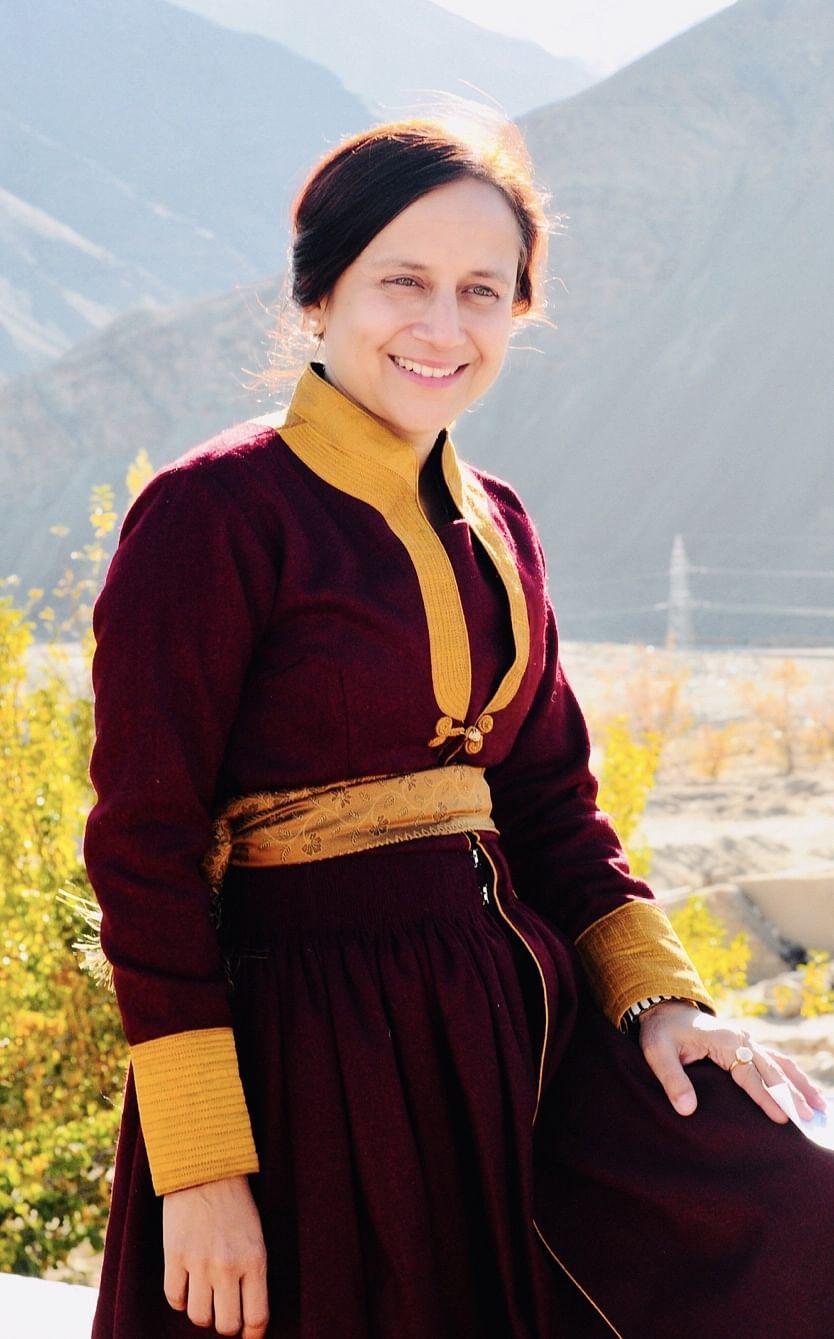 GItanjali in a traditional Ladakhi dress.