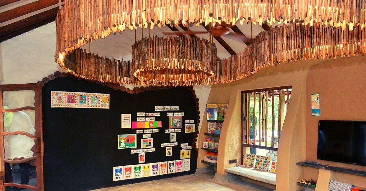 Made From Mud & Upcycled Wood, Karnataka School Teaches 40 Needy Kids For Free!