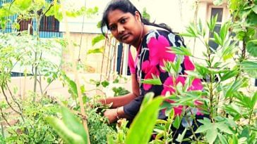 Hyderabad woman terrace garden tips neem grow organic vegetables India