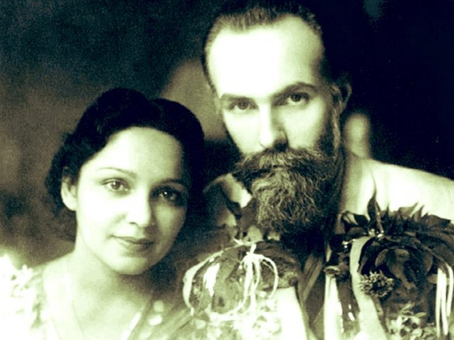 Devika Rani with her husband Svetoslav Roerich (Source: Twitter)