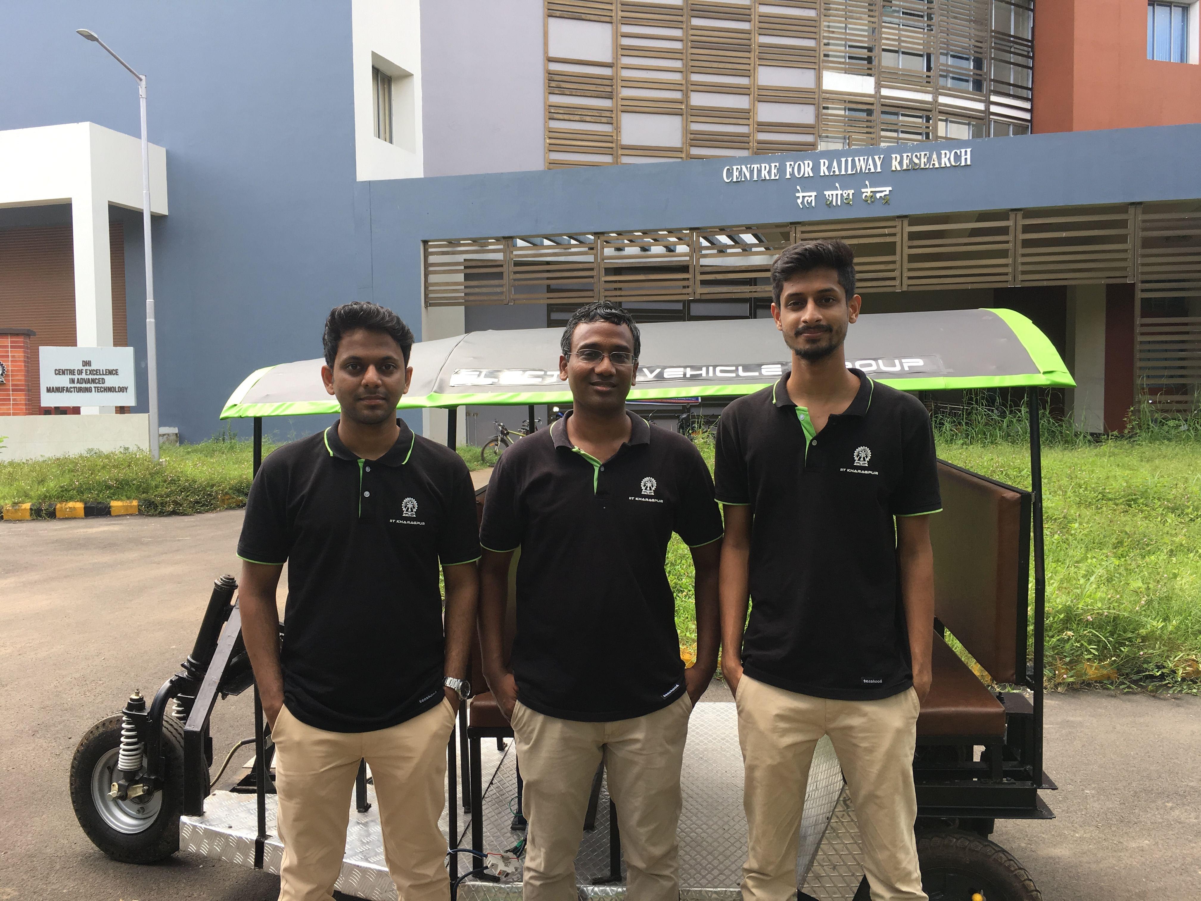 Startup founders (left: Manuj Agrawal, middle: Vikranth Racherla, right: Shyama Agrawal)