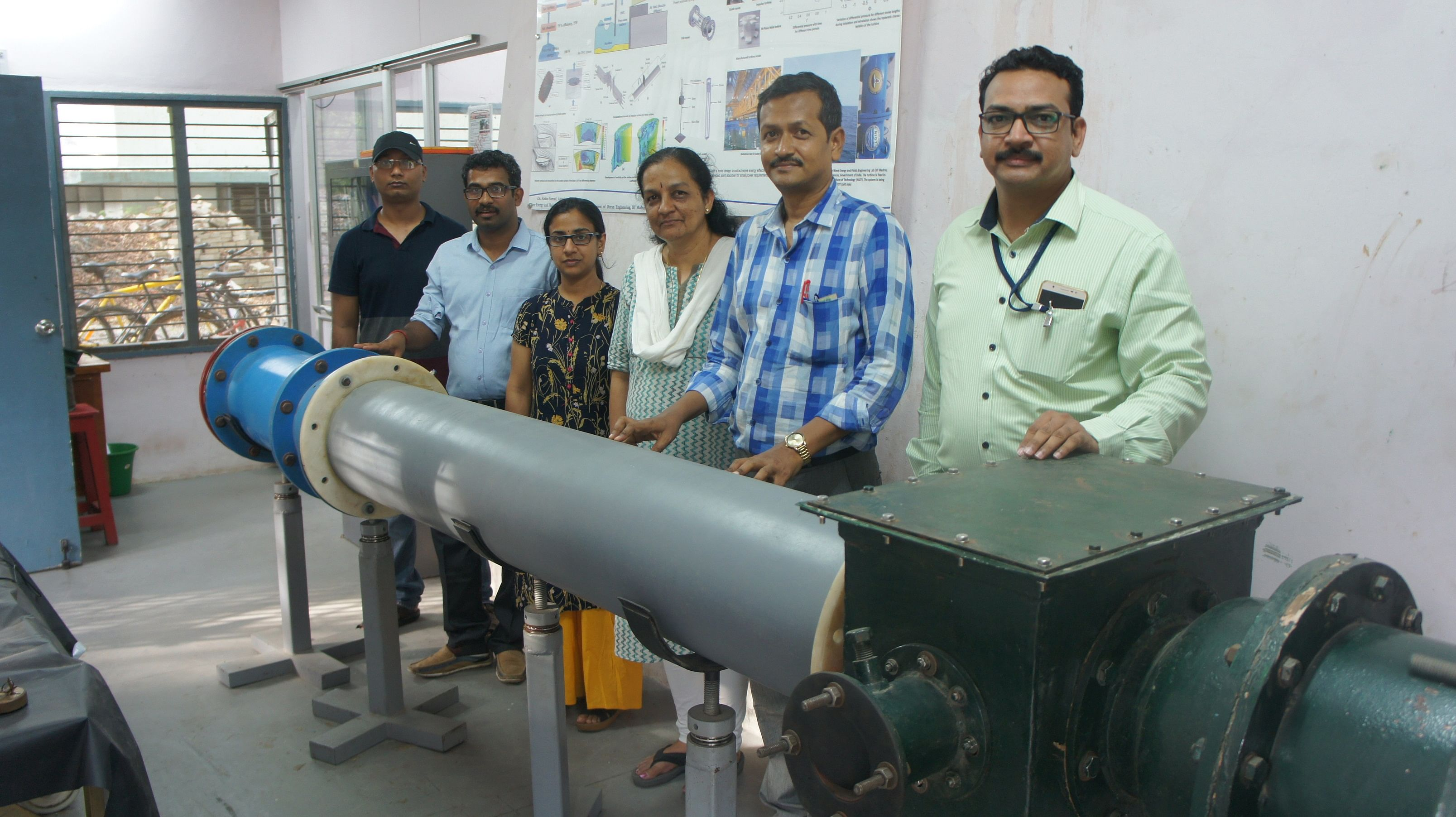 (From L-to-R) The research team Mr Ananth Narayan, Mr Biren Patnaik, Ms Suchithra Ravikumar, Dr Purnima Jalihal, Dr Abdus Samad and Mr Prasad Dudhgaonkar.