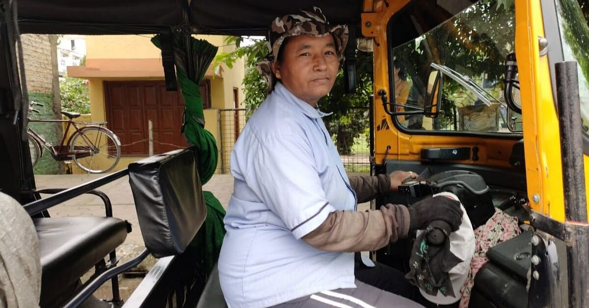 At 40, She Became Manipur's First Woman Auto Driver to Educate Her Sons