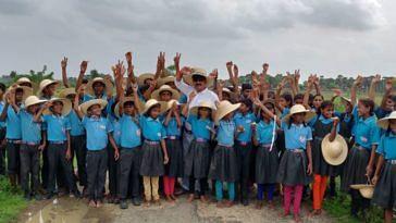 Bihar School plastic waste
