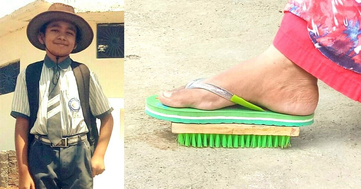 12-YO Boy Invents Rs 35 'Swachchta' Brush For People With Back Pain!