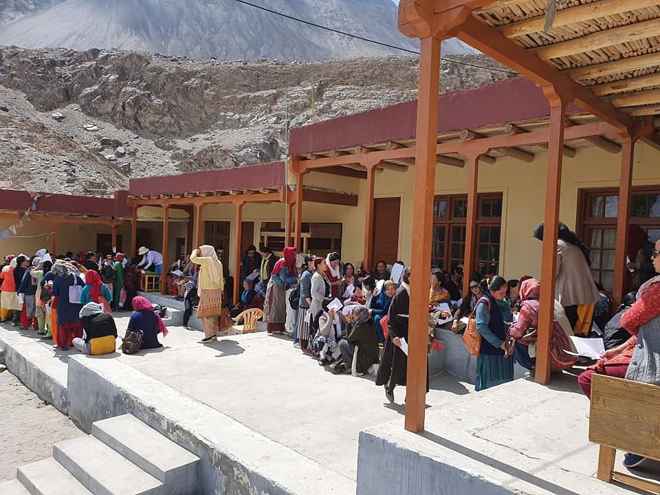 Women at the 11th Cervical Cancer Screening Camp in Ladakh in Nubra Valley earlier this month. (Source: Facebook/Swee Chong Quek)